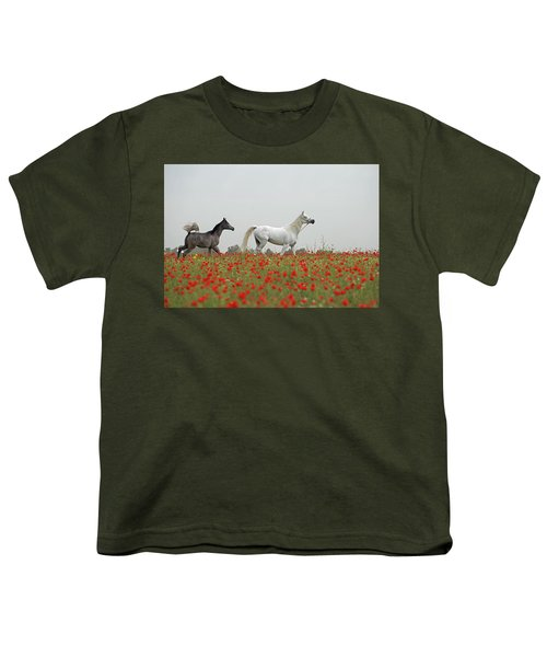 At The Poppies' Field... Youth T-Shirt by Dubi Roman