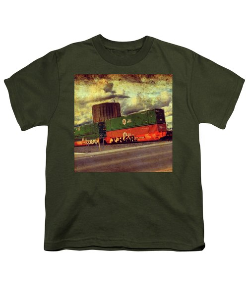 At The Train Crossing. Arizona  Youth T-Shirt