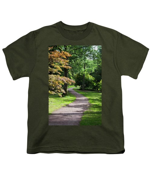 Autumn Forest Path Youth T-Shirt
