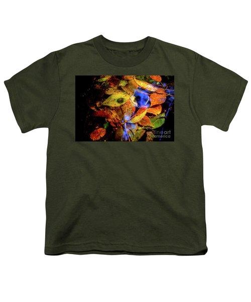 Autumn Leaf Youth T-Shirt by Tatsuya Atarashi