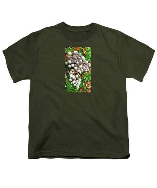 Autumn Mushrooms Youth T-Shirt by Nareeta Martin