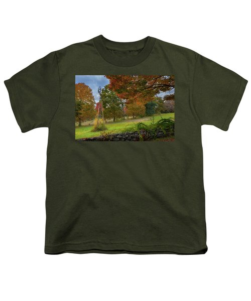 Youth T-Shirt featuring the photograph Autumn Windmill by Bill Wakeley