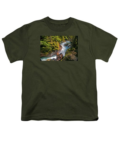Youth T-Shirt featuring the photograph Avalanche Gorge by Gary Lengyel