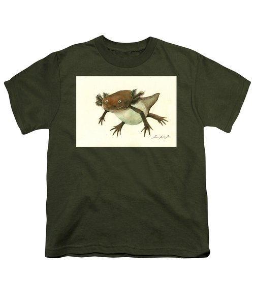 Axolotl Youth T-Shirt by Juan Bosco