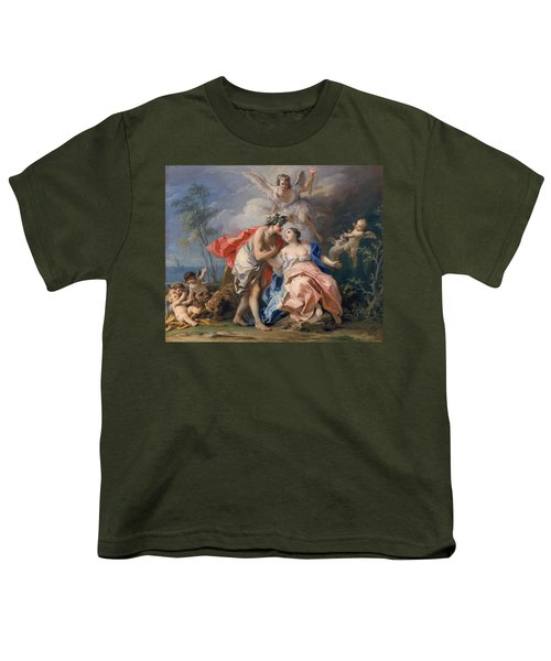 Bacchus And Ariadne Youth T-Shirt by Jacopo Amigoni