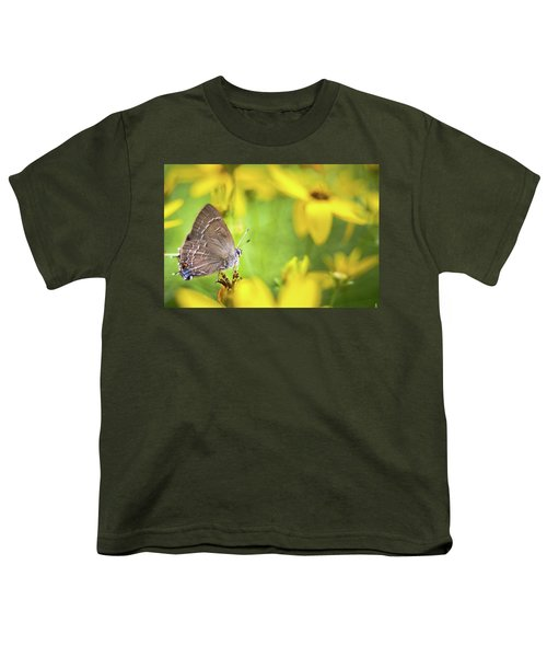 Banded Hairstreak On Coreopsis Youth T-Shirt