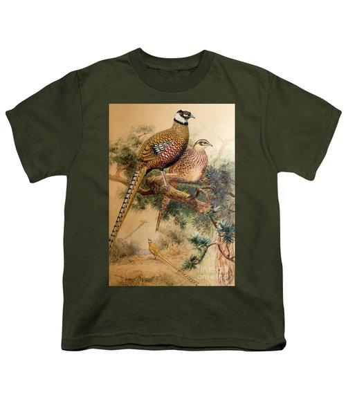 Bar-tailed Pheasant Youth T-Shirt