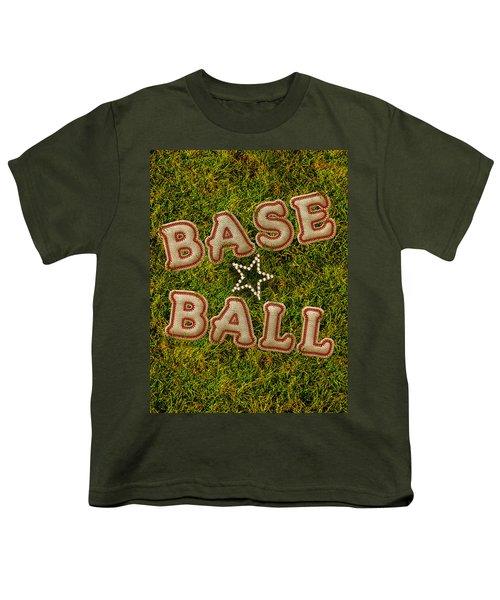 Baseball Youth T-Shirt by La Reve Design