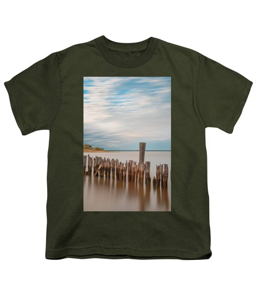Beautiful Aging Pilings In Keyport Youth T-Shirt