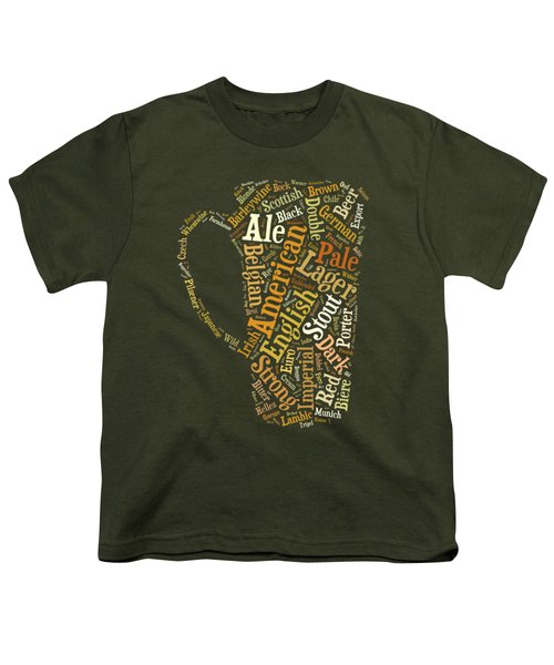 Beer Lovers Tee Youth T-Shirt by Edward Fielding