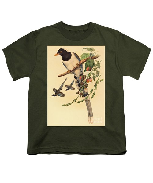 Blue Magpie, Urocissa Magnirostris Youth T-Shirt