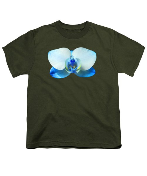Blue Orchid 1 Youth T-Shirt by Scott Carruthers