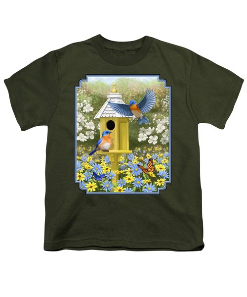 Bluebird Garden Home Youth T-Shirt