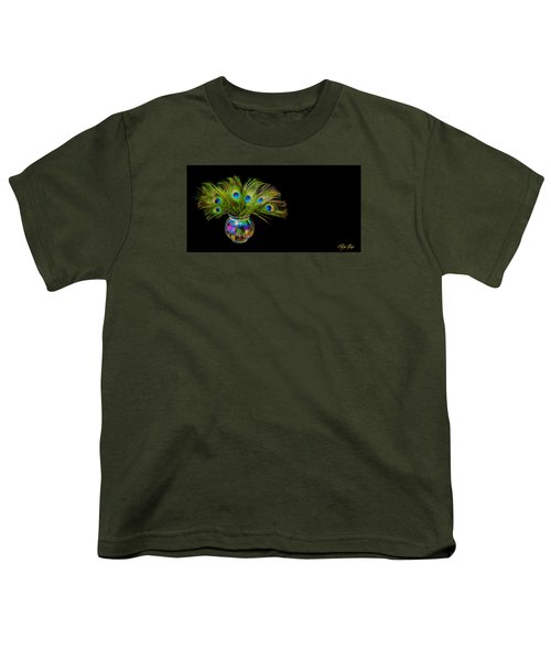 Youth T-Shirt featuring the photograph Bouquet Of Peacock by Rikk Flohr