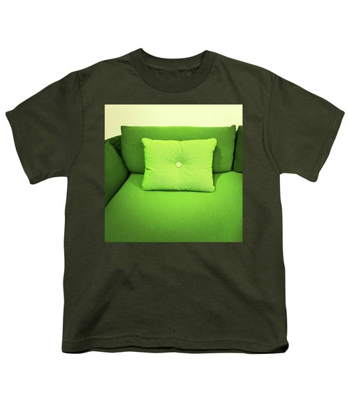 Bright Green Sofa With Cushion Youth T-Shirt