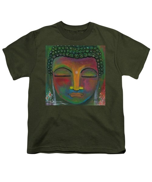 Youth T-Shirt featuring the painting Buddha Painting by Prerna Poojara