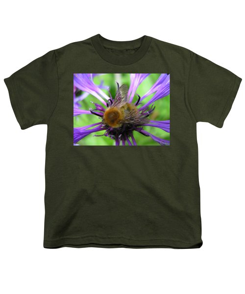 Bumblebee In Blue Youth T-Shirt