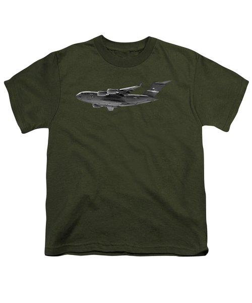 C-17 Globemaster IIi Bws Youth T-Shirt by Mark Myhaver