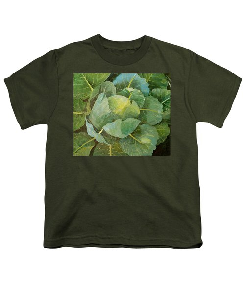 Cabbage Youth T-Shirt by Jennifer Abbot