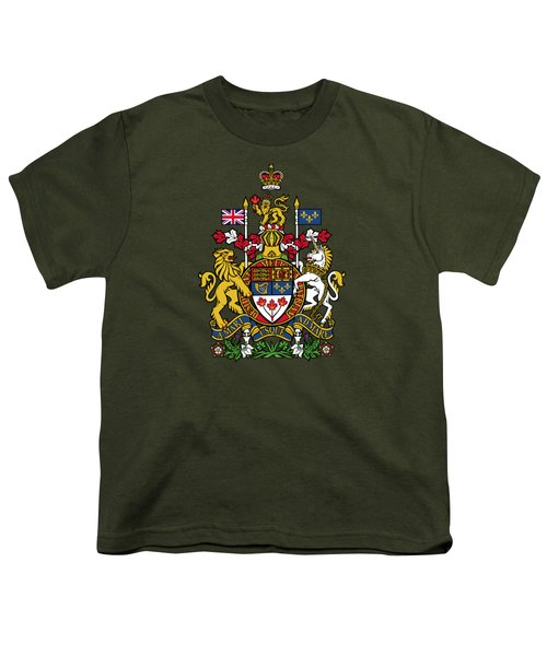 Canada Coat Of Arms Youth T-Shirt by Movie Poster Prints