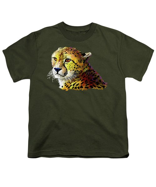 Cheetah Youth T-Shirt by Anthony Mwangi