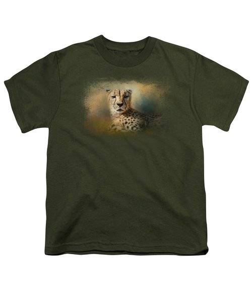 Cheetah Enjoying A Summer Day Youth T-Shirt by Jai Johnson