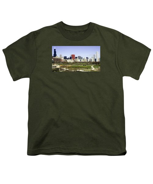 Youth T-Shirt featuring the photograph Chicago- The Windy City by Ricky L Jones