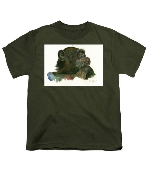 Chimp Portrait Youth T-Shirt