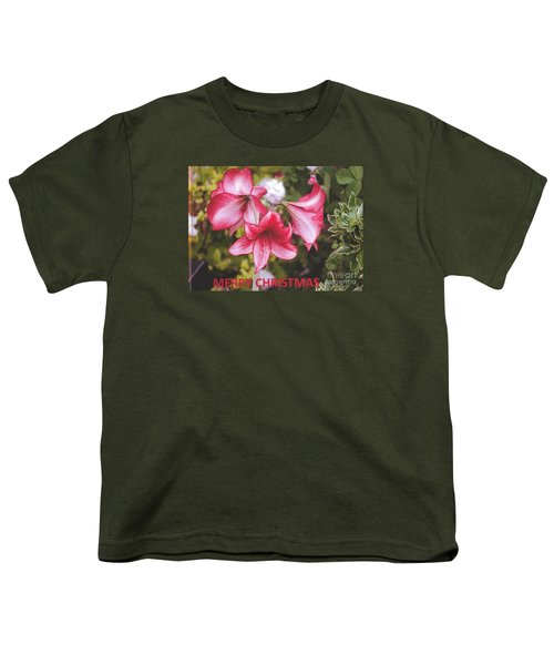 Christmas Card - Amorillis Youth T-Shirt by Rod Ismay