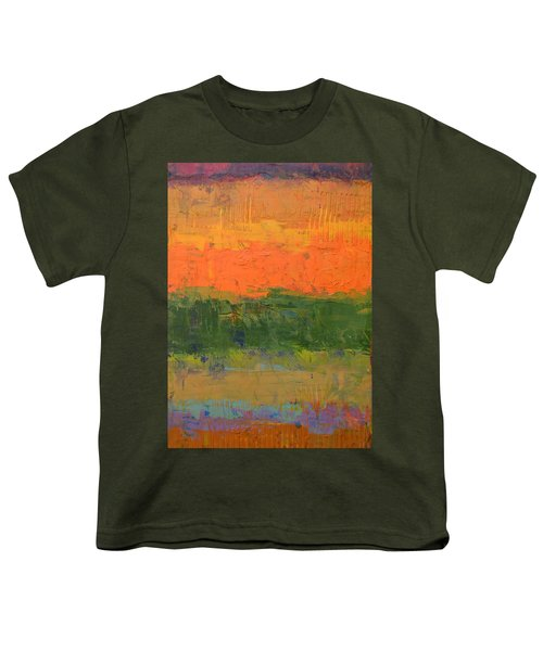 Color Collage Four Youth T-Shirt by Michelle Calkins