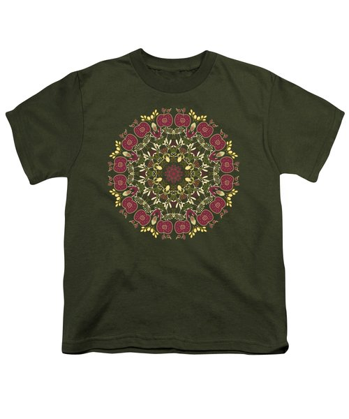 Country Apple Kaleidoscope Pattern Youth T-Shirt