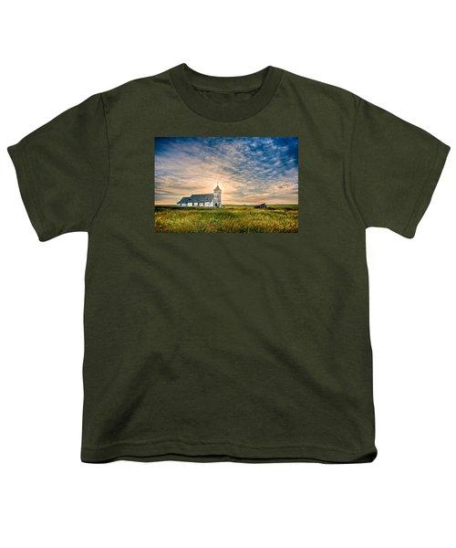 Country Church Sunrise Youth T-Shirt by Rikk Flohr