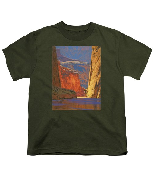 Deep In The Canyon Youth T-Shirt by Cody DeLong