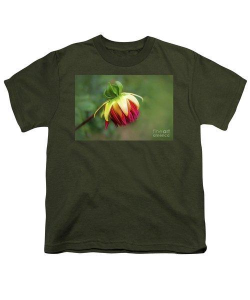Demure Dahlia Bud Youth T-Shirt