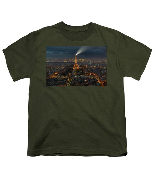 Didn't Know Paris Has A Skyline Youth T-Shirt by Alex Aves