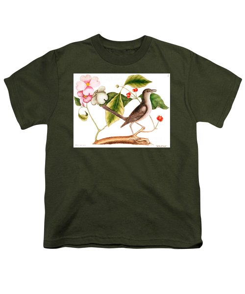 Dogwood  Cornus Florida, And Mocking Bird  Youth T-Shirt