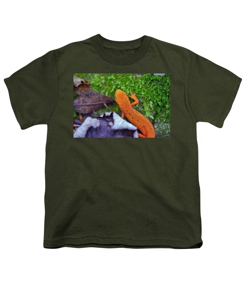 Eastern Newt Youth T-Shirt by David Rucker