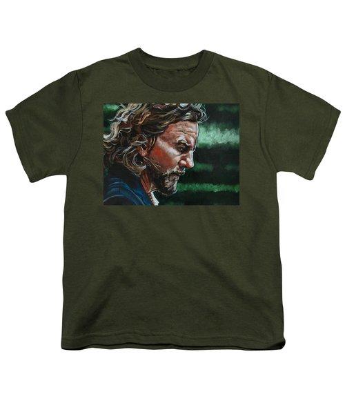 Eddie Vedder Youth T-Shirt by Joel Tesch