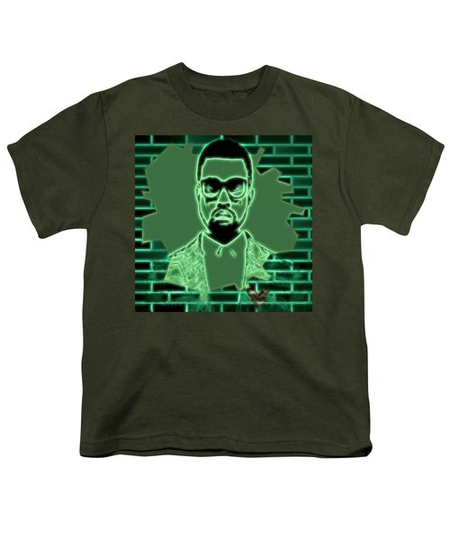 Electric Kanye West Graphic Youth T-Shirt by Dan Sproul