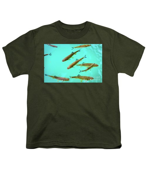 Fish School In Turquoise Lake - Plitvice Lakes National Park, Croatia Youth T-Shirt