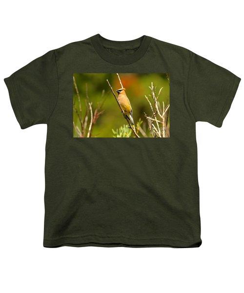 Fishercap Cedar Waxwing Youth T-Shirt