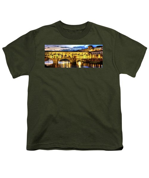 Florence - Ponte Vecchio Sunset From The Oltrarno - Vintage Version Youth T-Shirt