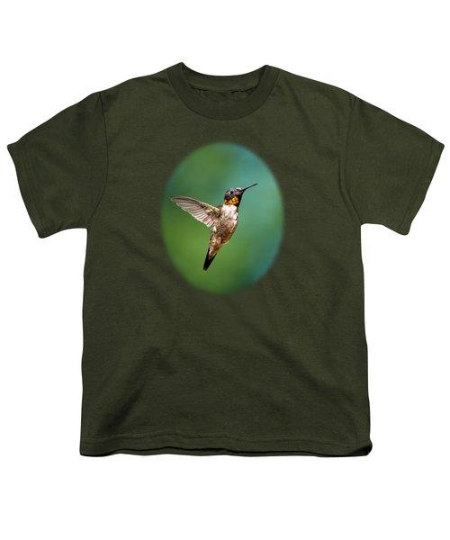 Flying Hummingbird Youth T-Shirt by Christina Rollo