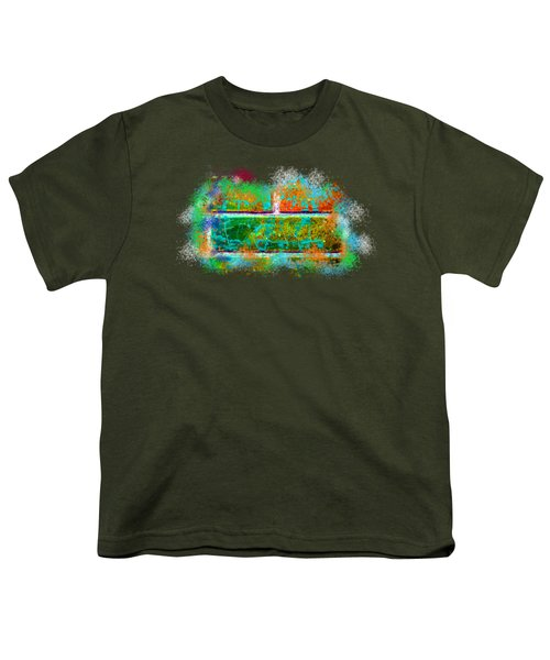 Forgive Brick Orange Tshirt Youth T-Shirt by Tamara Kulish