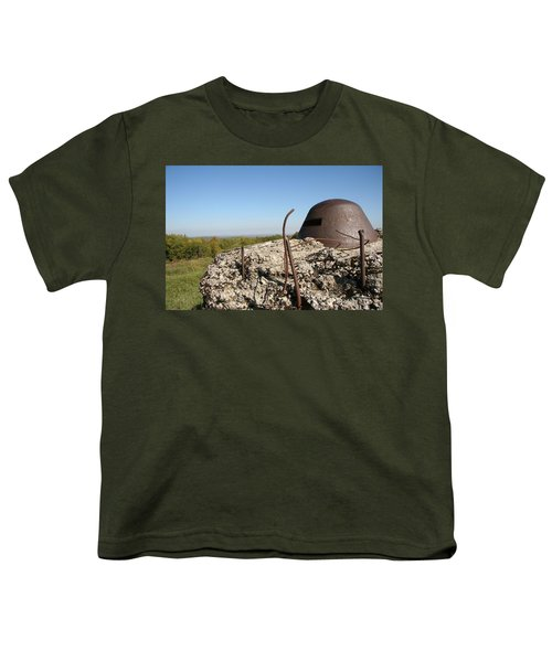 Youth T-Shirt featuring the photograph Fort De Douaumont - Verdun by Travel Pics
