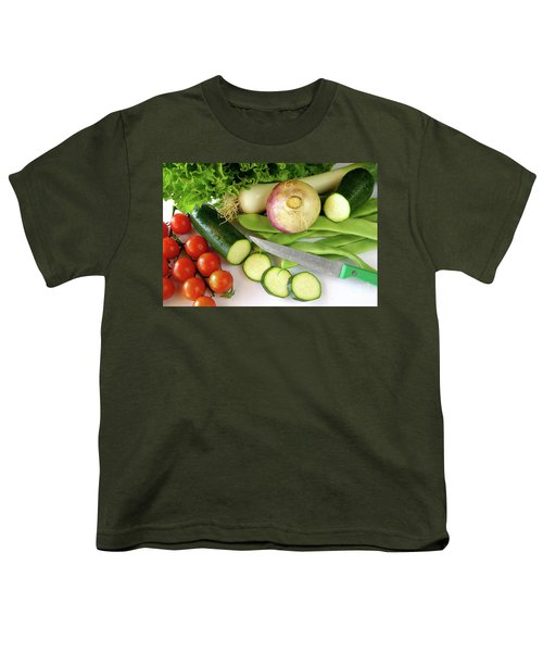 Fresh Vegetables Youth T-Shirt by Carlos Caetano