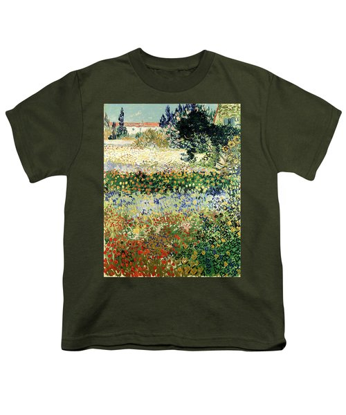 Youth T-Shirt featuring the painting Garden In Bloom by Van Gogh