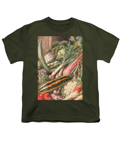 Garden Vegetables Youth T-Shirt by Louis Fairfax Muckley
