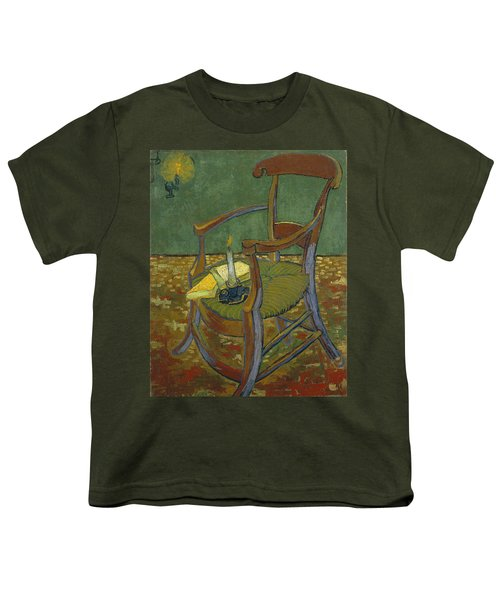 Youth T-Shirt featuring the painting Gauguin's Chair by Van Gogh