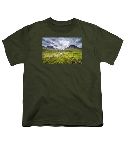 Youth T-Shirt featuring the photograph Glencoe by Jeremy Lavender Photography